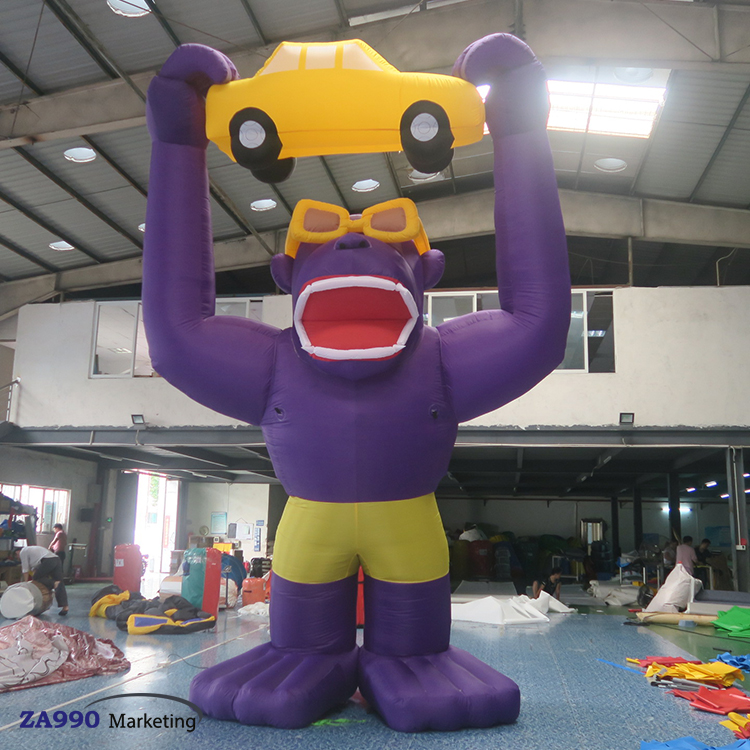 13ft Inflatable Gorilla & Car Outdoor Advertising With Air Blower