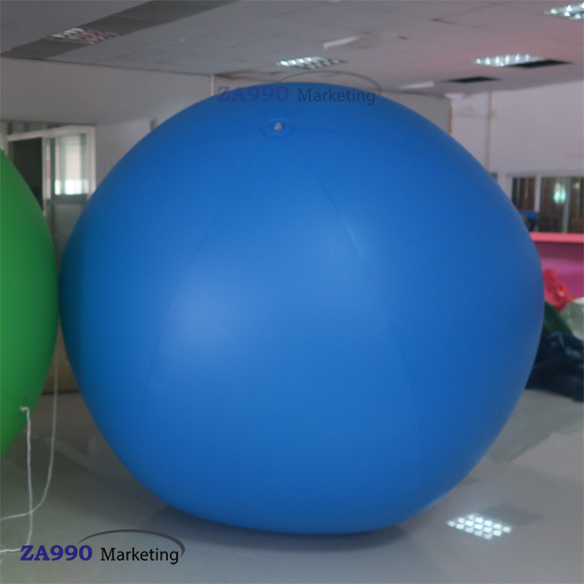 5pcs x 6.6ft Inflatable Advertising Round Flying Helium Balloon + Your Logo