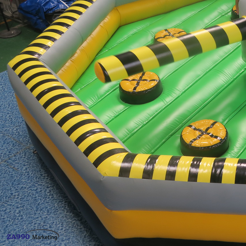 26ft Diameter Inflatable Wipeout Machine Sport Game With Air Blower