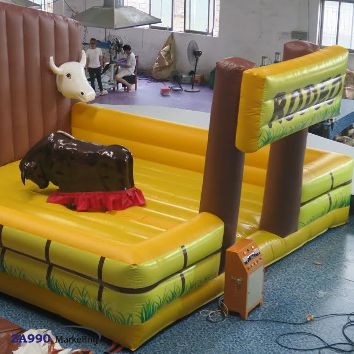 20x20ft Inflatable Rodeo Mechanical Bull Sports Game With Air Blower