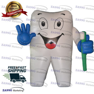 10ft Inflatable Air-blow Tooth & Toothbrush With Blower