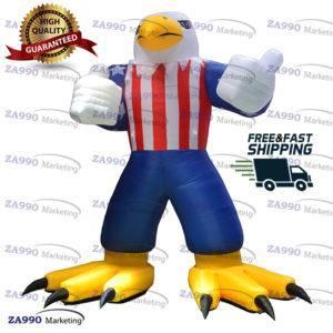20ft Inflatable Eagle USA Cartoon With Air Blower