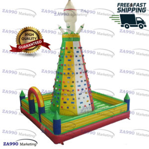 20x20ft Inflatable Rock Climbing Wall Climb Tower With Air Blower
