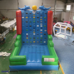 16x13ft Inflatable Climb Rock Climbing Wall With Air Blower