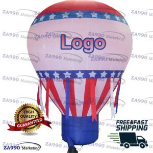 20ft Commercial Inflatable USA Balloon Promotion Advertising With Air Blower