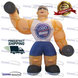 13ft Inflatable Fitness Muscle Man Sport With Air Blower
