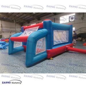 10x10ft Inflatable Soccer Kick Toss & Bounce House With Air Blower