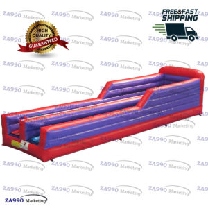 33×8.2ft Inflatable 2 Lane Bungee Run With Air Blower
