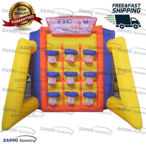 16x10ft Inflatable Tic Tac Basketball Carnival Game With Air Blower