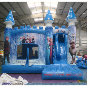 16x13ft Inflatable Frozen Bounce House Castle With Air Blower