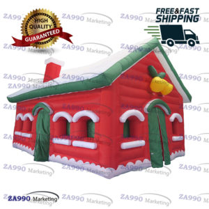 23x13ft Inflatable Santa Claus Grotto Tent With Air Blower