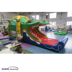 26x13ft Inflatable Castle Crocodile Bounce House With Air Blower