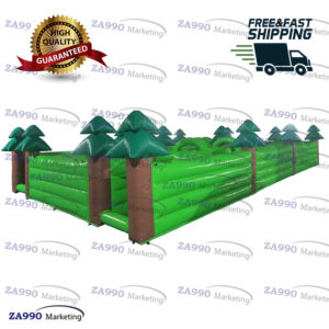 40x20ft Inflatable Maze Obstacle Course Trees Forest Wood With Air Blower