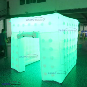 6.6×6.6ft Inflatable LED Light Photo Booth Tent With Air Blower