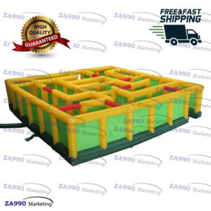 26x26ft Inflatable Ouzzel Maze With Air Blower