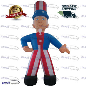20ft Inflatable Uncle Sam Cartoon USA Advertising Promotion With Air Blower