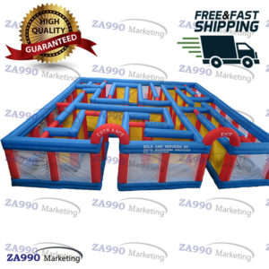39x39ft Inflatable Ouzzel Maze With 2 Air Blower