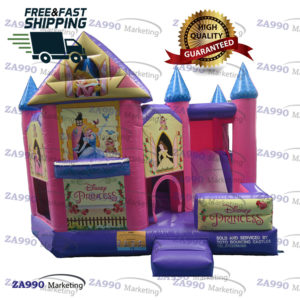 16x13ft Inflatable Princess Castle Bounce House With Air Blower