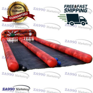 39x10ft Inflatable Human Bowling Double Lanes With Air Blower