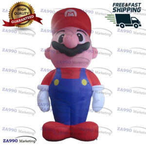 13ft Inflatable Super Mario For Advertising With Air Blower
