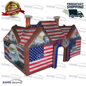 29x20ft Inflatable Pub House USA Eagle VIP Party Bar Tent With 2xAir Blower