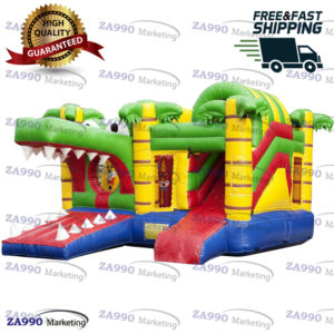 16x13ft Inflatable Crocodile Bounce House Castle With Air Blower
