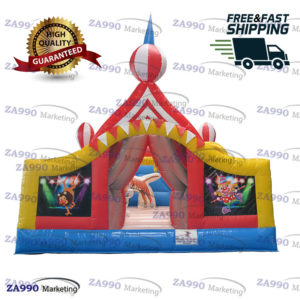 16x16ft Inflatable Circus Castle Bounce House With Air Blower