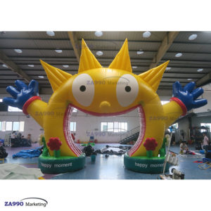 26x20ft Inflatable Archway Smiley Happy Face For Paty With Air Blower