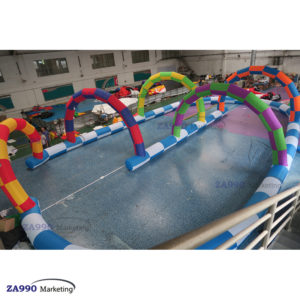 33x20ft Inflatable Race Track Go Kart / Zorb Ball With Air Blower