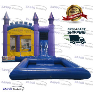 26x13ft Inflatable Bounce House Bouncy Slide & Pool With Air Blower