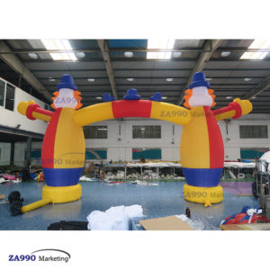 23×11.5ft Inflatable Archway Clown Entrance Activities Arch With Air Blower