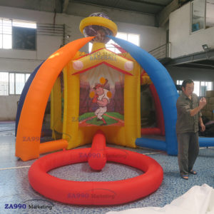 5 IN 1 Inflatable Activities Funny Carnival Games With Air Blower