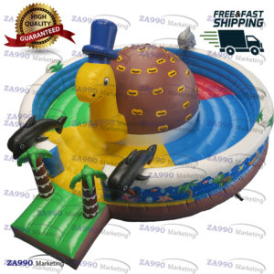 20ft Inflatable Turtle Climb Bounce House With Air Blower