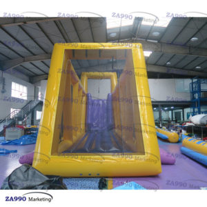49x10ft Inflatable Zip Line Sport Game With Air Blower