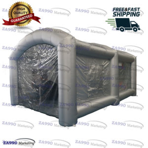 20x13ft Inflatable Spray Paint Booth Tent For Car With 2 x Air Blower