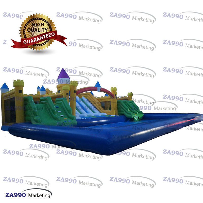 Large Inflatable Water Park Pool Amp Slides Air Blower Custom Inflatables