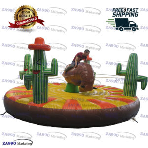 16ft Inflatable Cacti Manual Human Bull Riding With Air Blower