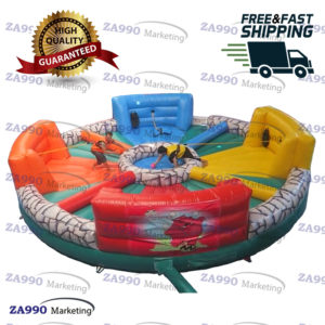 26ft 4 Players Inflatable Hippo Chow Down With Air Blower