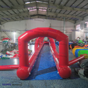 66×6.6ft Inflatable Water Slip N Slide With Air Blower