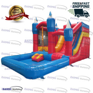 20x13ft Inflatable Bouncy House Water Slide & Pool With Air Blower