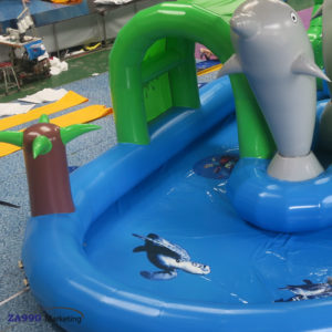 52x20ft Inflatable Dolphin Water Park Pool & Slide