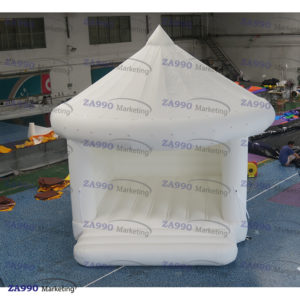 16x13ft Inflatable White Wedding Bouncer House With Air Blower
