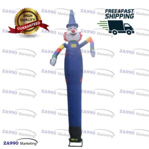 13ft Inflatable Air Dancing Wind Dancer Funny Crazy Clown With Blower