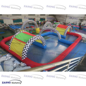 49x33ft Inflatable Go Kart Race Track With Air Blower