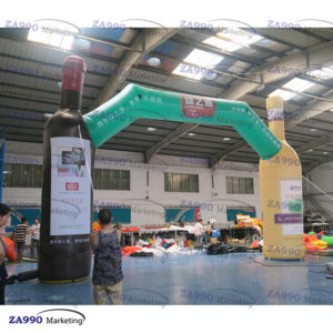 20×3.3ft Inflatable Wine Bottles Arch For Promotion Event With Air Blower