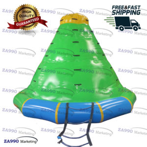 11.5×8.2ft Inflatable Floating Iceberg Water Rock Climbing Sea With Air Pump
