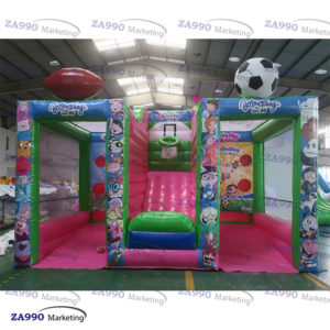 16x10ft Inflatable 3 In 1 Carnival Toss Sport Game With Air Blower