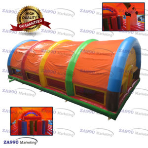 49x26ft Inflatable Panda Amusement Park In Tent With Air Blower
