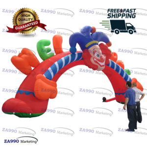 39x20ft Inflatable Clown Archway With Air Blower