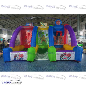16x10ft Inflatable 3 IN 1 Sport Arena Games For Carnival With Air Blower